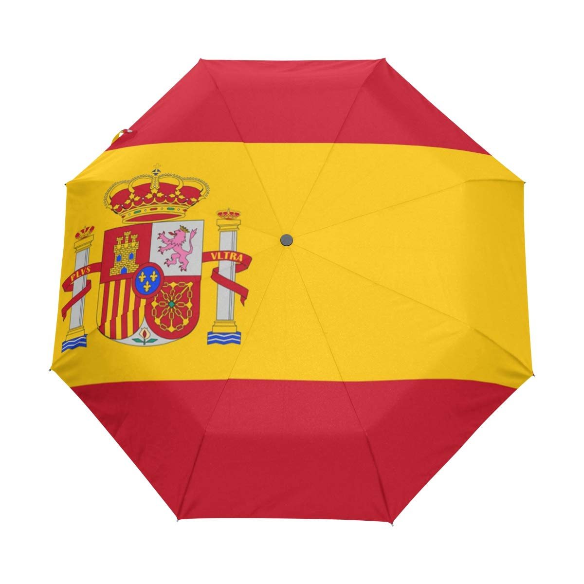 Resistente al Agua Resistente al Viento Parasol con Bandera de Espa/ña UPF 50+ 3 Paraguas Plegable con Cierre autom/ático