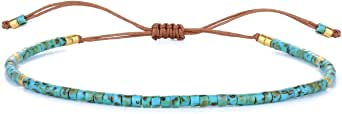 KELITCH Candy Colors Miyuki Beads Amistad Pulsera Moda Ajustable Wrap Pulseras para Mujer