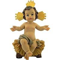 Catholic Brands Infant Jesus in Manger 2 Piece Resin Statue Figurine for Nativity Set, 7 Inch