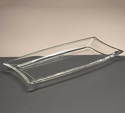 la galaica Bandeja de Cristal, colección Carre, 3 cm. de Altura.
