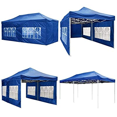goodyusstore, Enjoying The Great Outdoors Party Events, Easy to Set Up Heavy Duty Steel Frame, 10'x20' Pop Up Gazebo Canopy Outdoor Wedding Tent Folding Camping 420D, Height Adjustment, Carry Bag : Garden & Outdoor