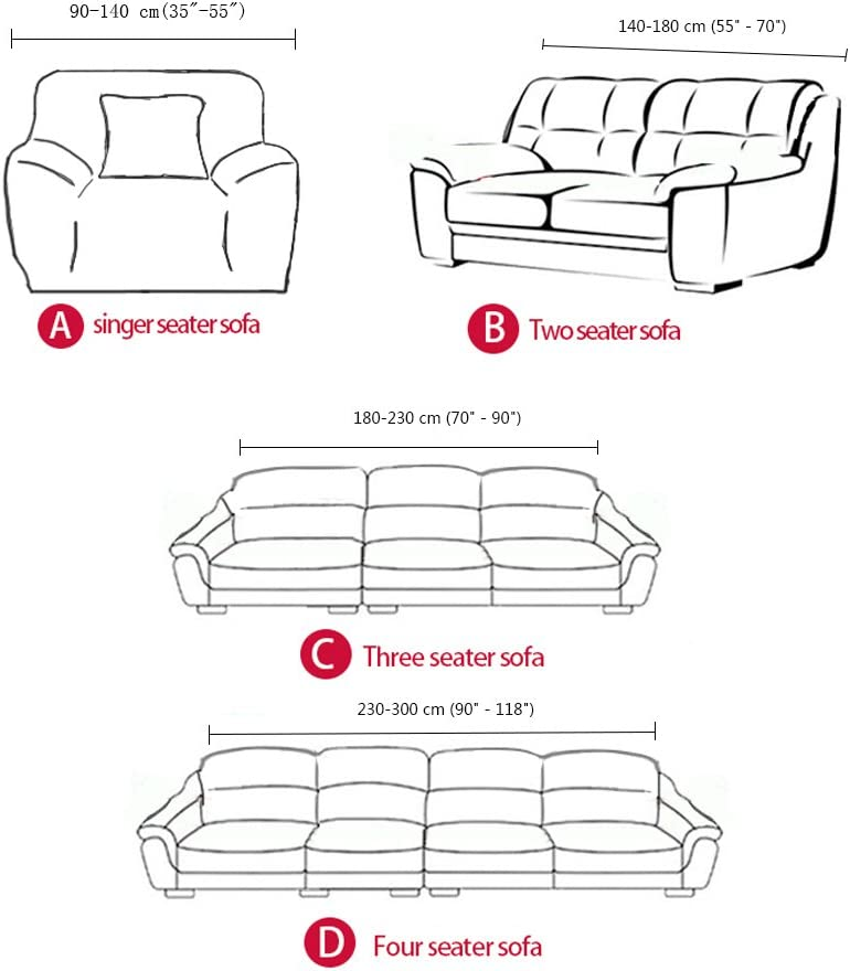 forcheer sofá tela de poliéster Spandex cubre funda de sofá ...