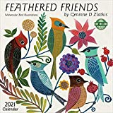 Feathered Friends 2021 Wall Calendar: Watercolor