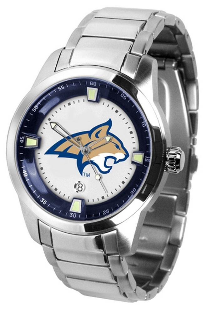 Montana State Bobcats Titanスチールメンズ腕時計