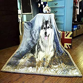 Amazon.com: YOUSA 3D Dog Blankets and Throws Fleece Bed