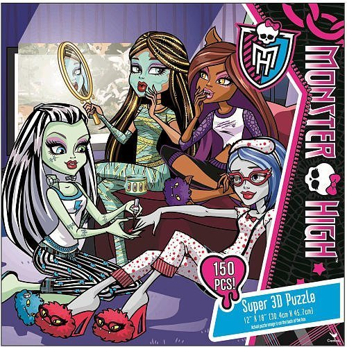 Monster High 150 Piece Super 3D Puzzle-Sleepover -