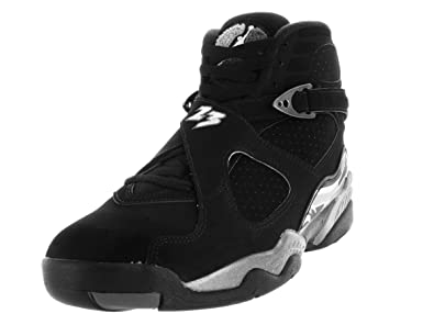 brand new 02549 85069 Nike Jordan Mens Air Jordan 8 Retro Black/White/Lt Graphite Basketball Shoe  10 Men US