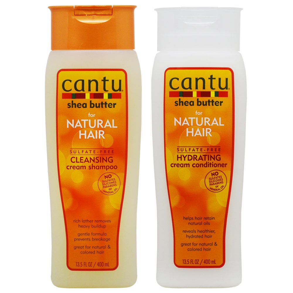 Cantu Shea Butter Cleansing Shampoo + Hydrating Conditioner 13.5oz''Duo'' by Cantu