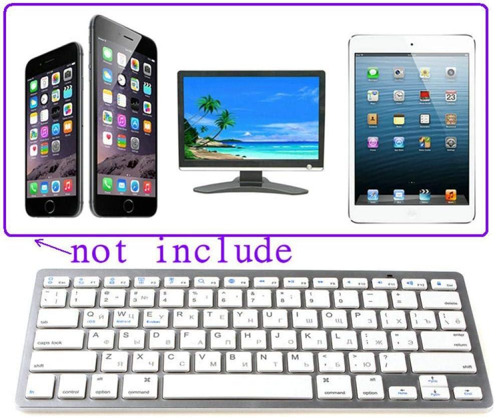 Wireless Keyboard Ultra-Thin Office Keyboard Mute Keyboard Ergonomic Design Tablet Smart Phone Universal White