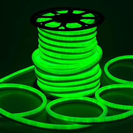 Amazon 150ft 110v flex led neon rope light indoor outdoor 150ft 110v flex led neon rope light indoor outdoor holiday valentine party decorative lighting green mozeypictures Images