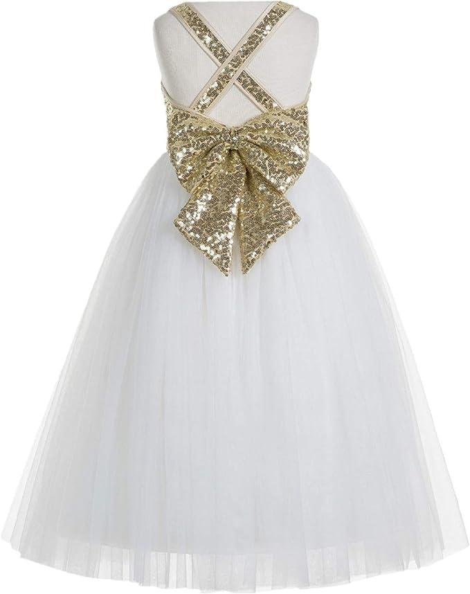 Crossed Straps A-Line Flower Girl Dress