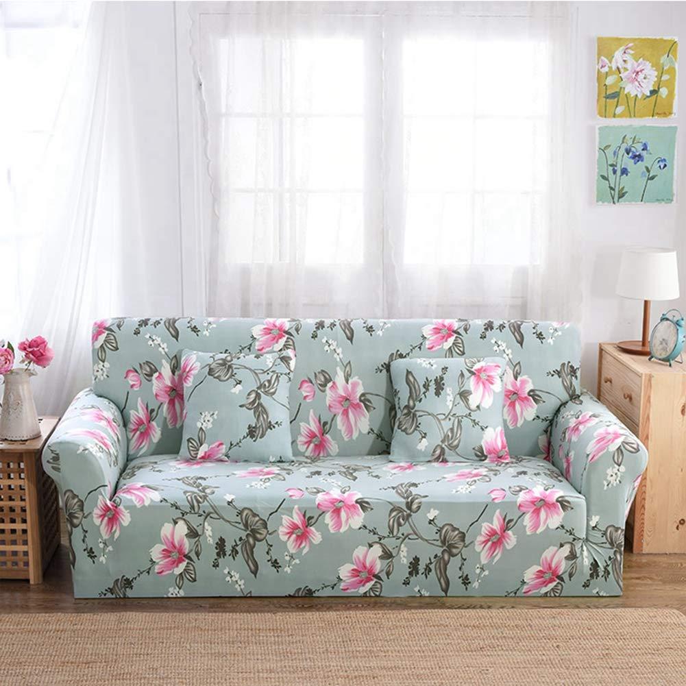 KKONION Light Color Printing Sofa Tight Wrap All-inclusive Elegant Elastic Sofa Cover Towel Furniture Slipcover 1/2/3/4-Seater