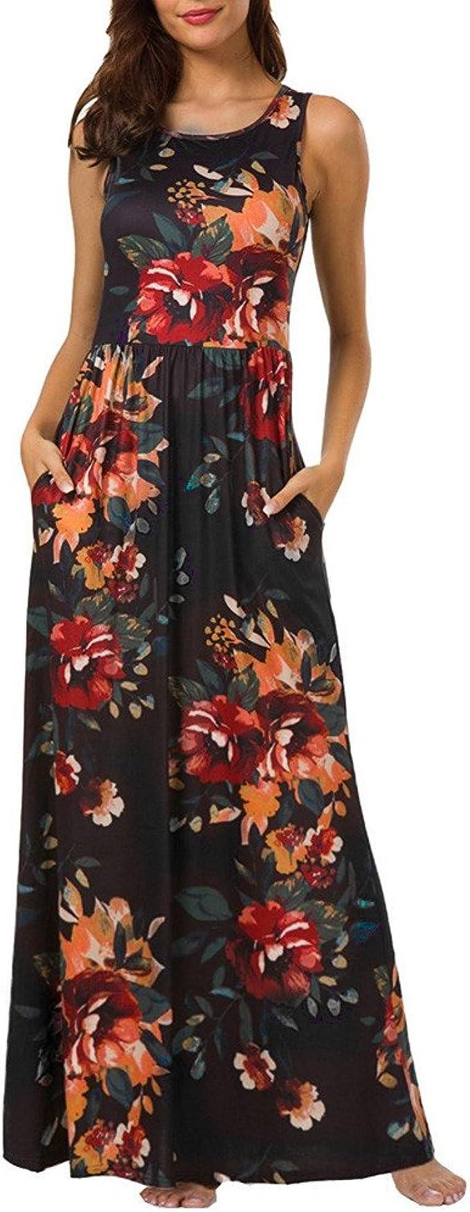 Vestido para Mujeres Ocio Señoras Verano Falda Vestido de Moda ...