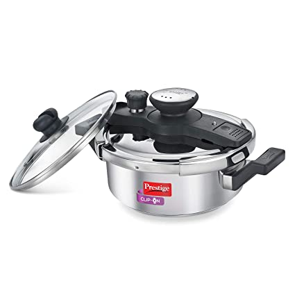 4312c0df93eb0 Buy Prestige Clip On Stainless Steel Pressure Cooker with Glass Lid ...