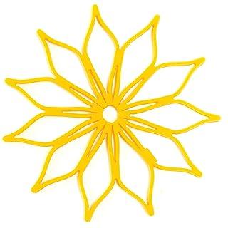 Spice Ratchet Blossom Multi-Use Mini Silicone Trivet, Yellow
