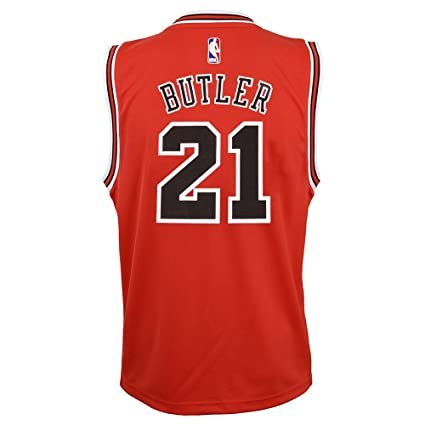 a4d1db1f2 Image Unavailable. Image not available for. Color  Outerstuff Jimmy Butler  NBA Chicago Bulls Official Road Red Player Replica Jersey Youth
