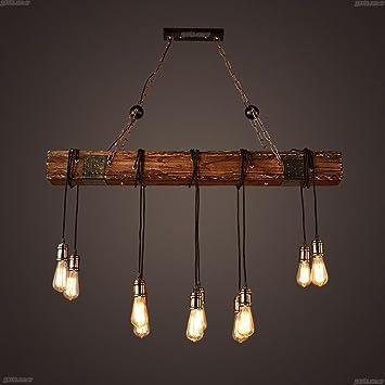 Bjvb Drei Vintage Industrie Holz Anhanger Lampe Schlafzimmer