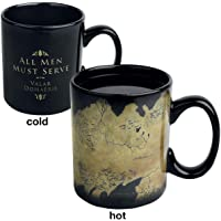 Tasse changeante de la chaleur de la carte Game of Thrones Westeros
