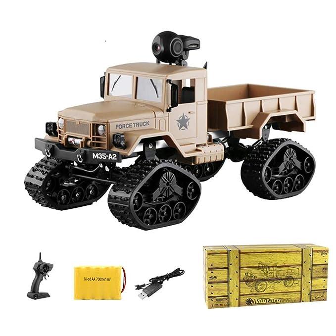RC Control remoto del coche,FY001B 1:16 2.4G radio control 4WD todo terreno RC Crawler Car Truck Buggy Car con neumáticos para la nieve, luces delanteras ...