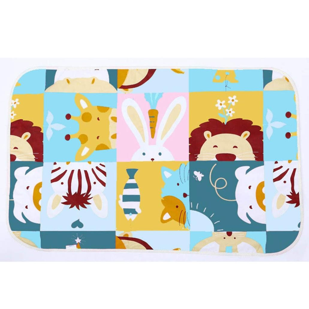 FeiliandaJJ Baby Nappy Changing Mats Waterproof Breathable Portable Diaper Baby Change Pads 3 Layer Sandwiched Cotton Baby Urine Mat for Baby Diapering Home Travel Outside (Fox&Birds-G)
