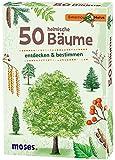 Moses Expedition Natur - 50 heimische Bäume | Bestimmungskarten im Set | Mit spannenden Quizfragen