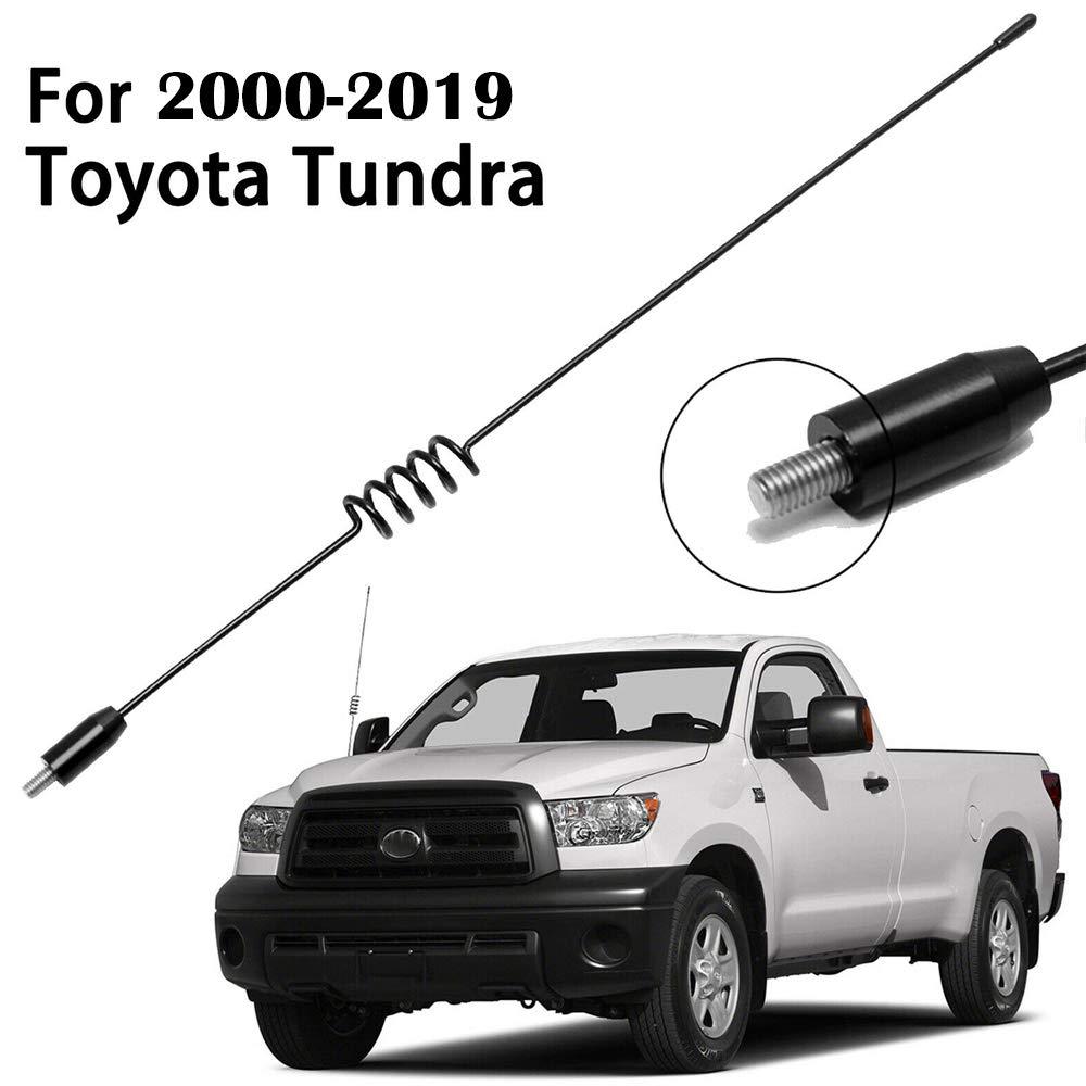 Tough Material Creative Design Stealth Black DROGO 3.2 StandX Replacement Antenna for Toyota Tundra 1999-2018 FM//AM Reception Enhanced
