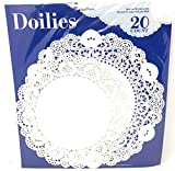 Nantucket Home Round White Lace Paper Doilies, Set of 20