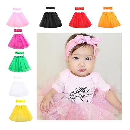 Disfraz de bebé recién nacido fotografía Prop Puff falda y orejas de ...