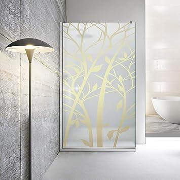 Modern Leroy Timeless - Mampara de ducha (madera de 8 mm, cristal ...