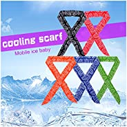 ICE Cool Scarf Neck Wrap Cooling Scarf, inflated in 8-10 mins on Soaking in Water. for All Outdoor Activities.