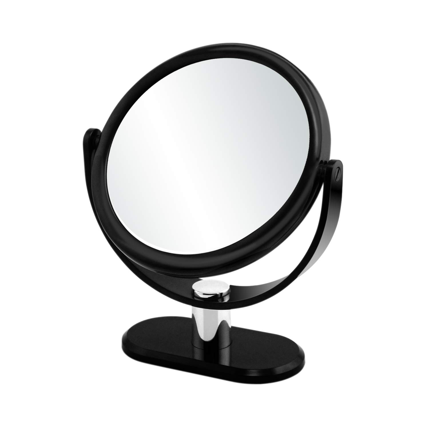 GORWRICH Makeup Mirror, Double Sided Vanity Mirror with 1x/7x, Tabletop Magnifying Mirror, 360 Degree Rotation, Cosmetic Mirror for Home & Bathroom Shower (Black)