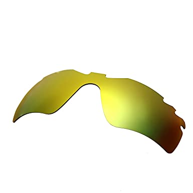 HKUCO Mens Replacement Lenses for Oakley Radar Edge Blue/Green Sunglasses 0Xye2rL