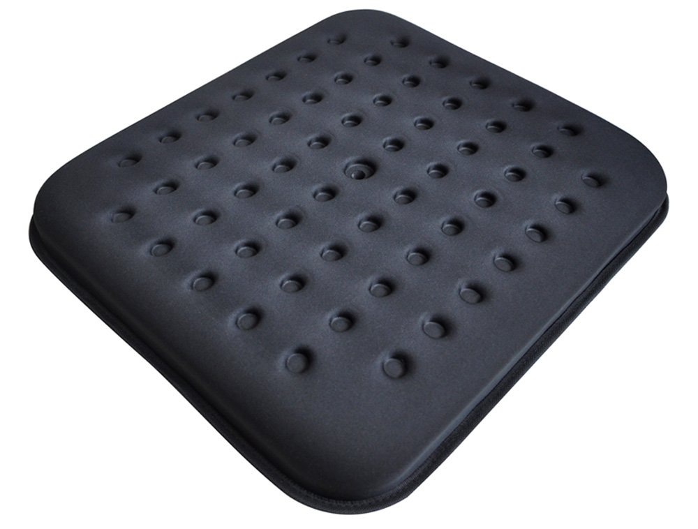 Tektrum Thick Orthopedic Cool Gel Seat Cushion with Cooling Vents for Wheelchair, Office, Home, Car-Relief for Back Pain, Sciatica, Tailbone, Prostate, Postnatal and Postoperative Pain (TD-GS1201-BLK) by TEKTRUM