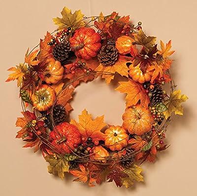 24 Inch Fall Maple Leaf Wreath - Thanksgiving Wreath