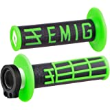 Odi Emig V2 Lock on Grips with Cam and Throttle Tube for 2 Stroke Engines Black / Green