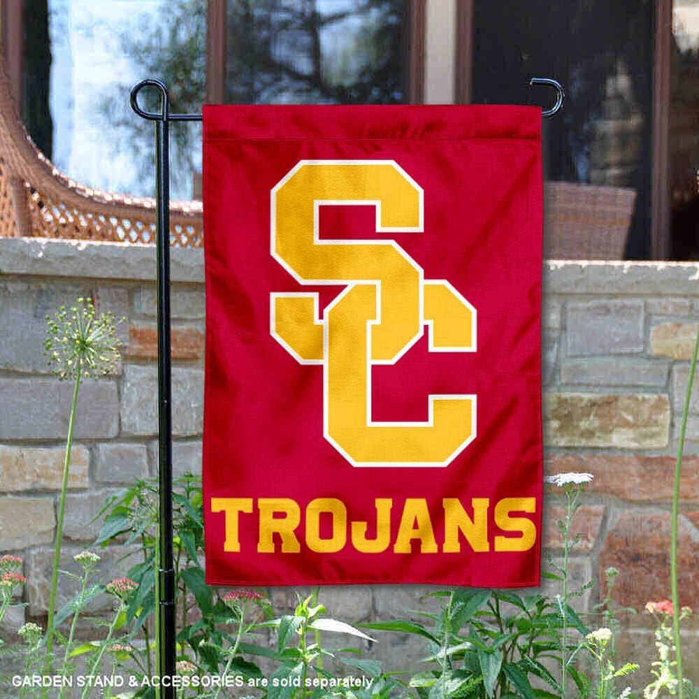 College Flags & Banners Co. USC Trojans SC Logo Garden Flag