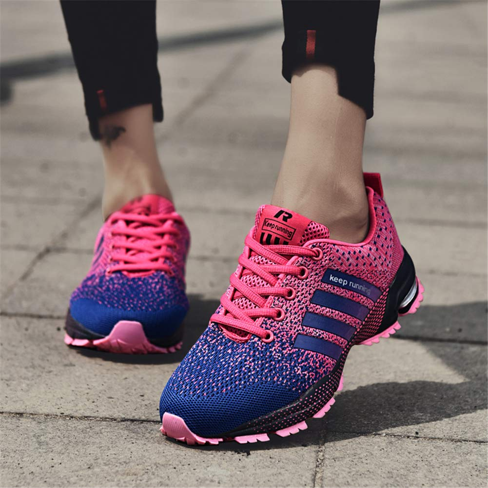 KUBUA Womens Running Shoes Trail Fashion Sneakers Tennis Sports Casual Walking Athletic Fitness Indoor and Outdoor Shoes for Women 5 B / 4 D F Purple by KUBUA (Image #3)