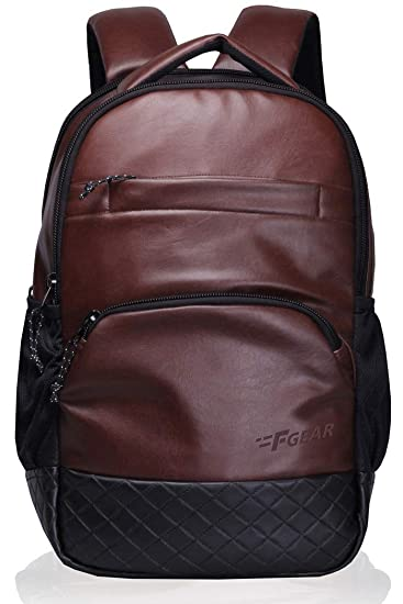 27dbd61d85 F Gear Luxur Brown 25 Liter Laptop Backpack  Amazon.in  Bags ...