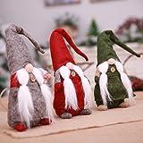 Weixinbuy Swedish Christmas Santa Gnome Tomte Plush Handmade Doll Xmas Home Ornaments Christmas Decoration Table Decor Present