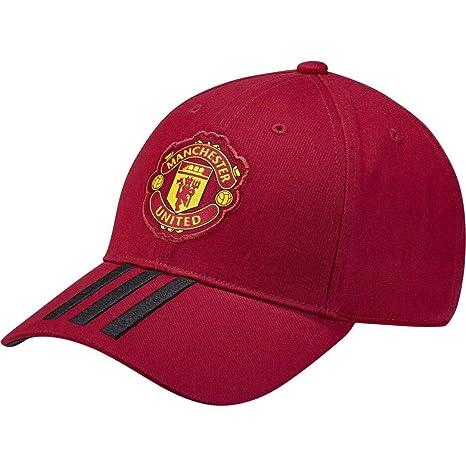 Amazon.com  adidas Manchester United FC 2018 189 3 Stripe Cap ... 1641da1c0c6