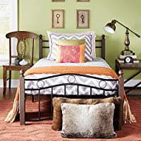 TRIBECCA HOME Shabby Chic Sadie Brown and Black Twin Bed