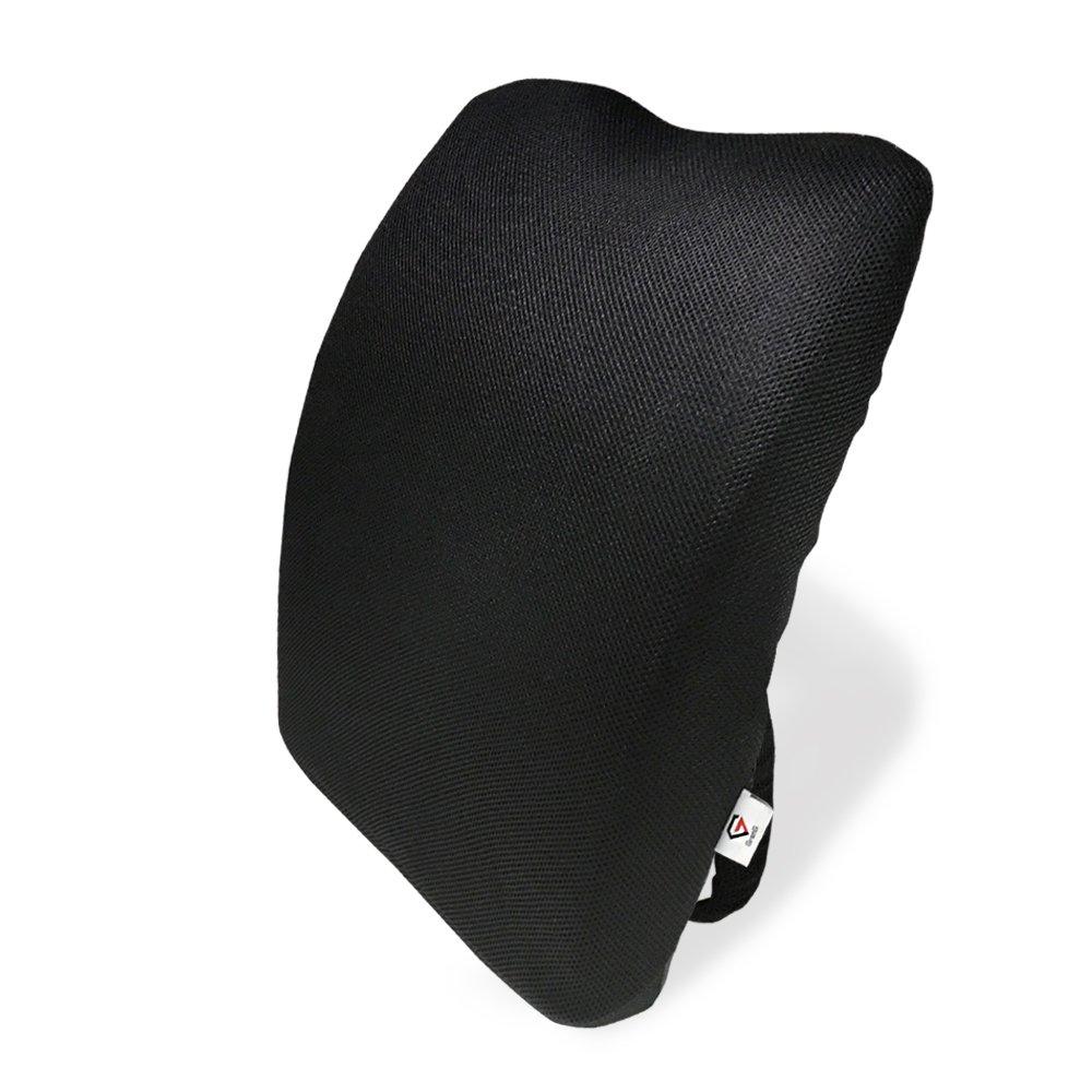 [グロング]GronG アーチ型 背もたれクッション ランバーサポートクッション 低反発 腰痛 クッション メッシュ ブラック