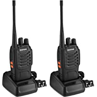 2-Pack BaoFeng Walkie Talkies 16 Channels Long Range Way Radio FM Transceiver