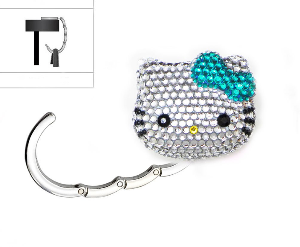 20c465a7ccb2 Amazon.com  LOVEKITTY 3D Fully Blinged Out Foldable Hello Kitty Inspired  Purse Holder