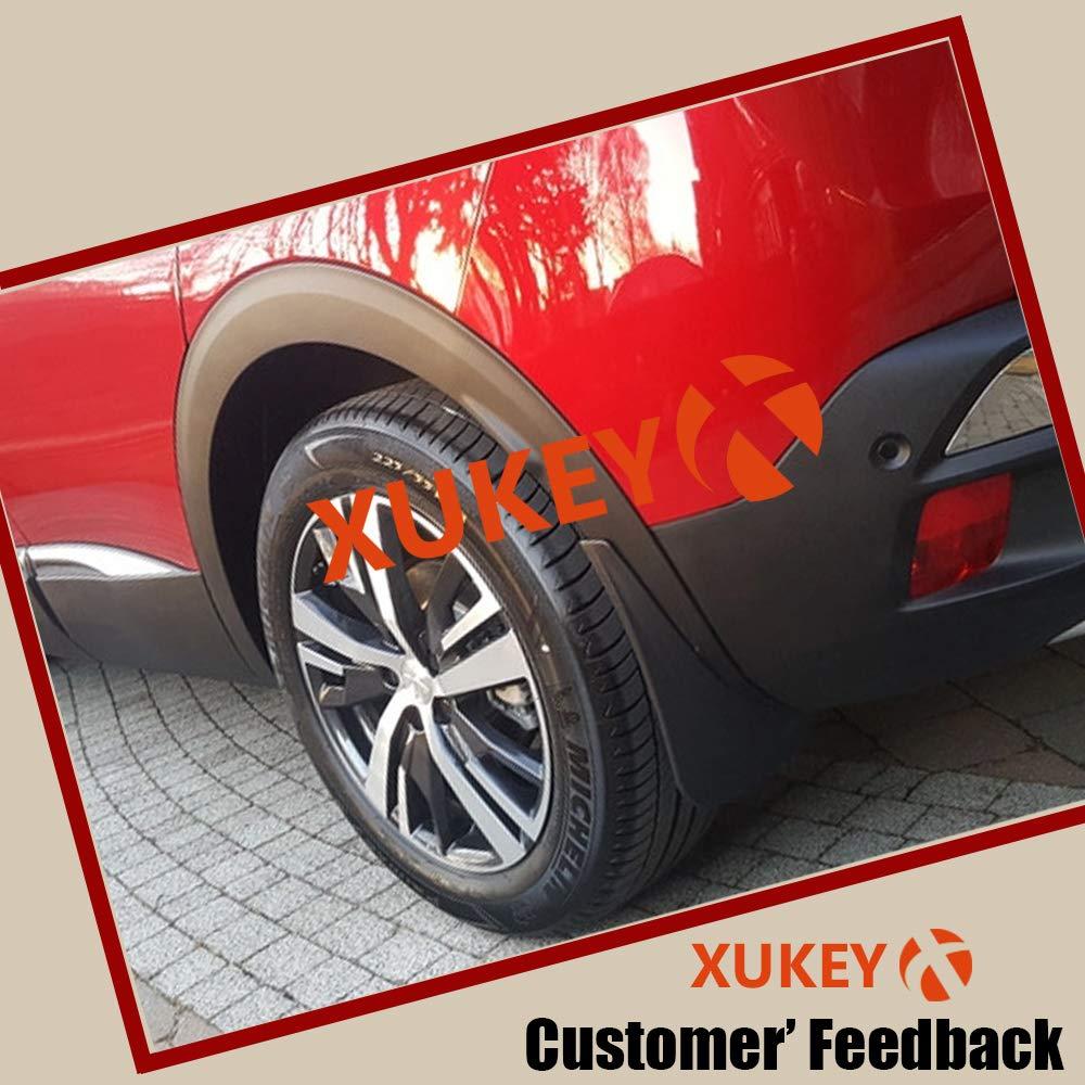 Xukey 4 parafanghi anteriori e posteriori modellati per 3008 MK2 GT 2017 on 2018 2019 paraspruzzi parafanghi paraspruzzi