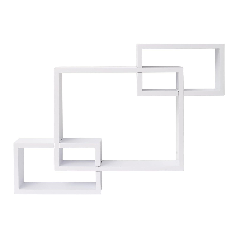 Mobili Rebecca® Mensole Scaffali Legno Bianco Design Urban Living Casa Ufficio Idee Regalo (Cod. RE4879) Rebecca srl