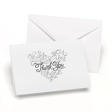 Amazon Com Hortense B Hewitt Heartfelt Thank You Cards Wedding