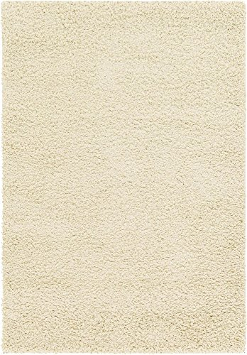 Unique Loom Solo Solid Shag Collection Modern Plush Pure Ivory Area Rug (4' 0 x 6' - Sable Rug Garden