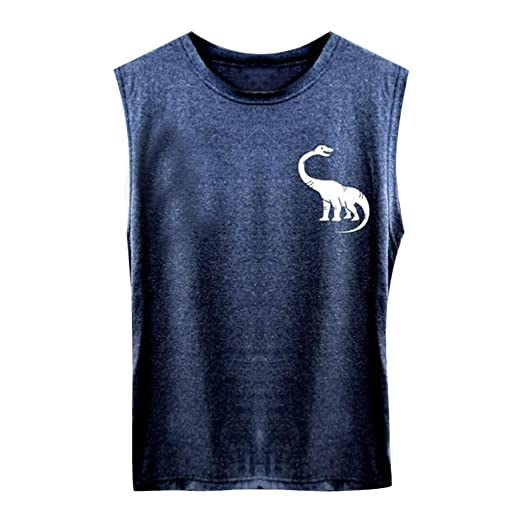 96e56cf7f6c Uscharm Womens Sleeveless Blouse Dinosaur Print Sleeveless Shirts Casual  Tanks Girls Loose Sleeveless Strap Tops at Amazon Women's Clothing store: