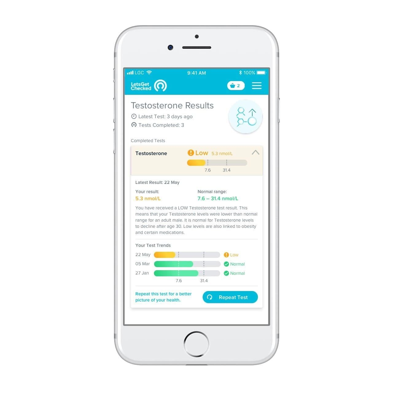 LetsGetChecked- at Home Progesterone Ovulation Test by LetsGetChecked (Image #3)